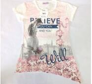 Детская футболка для девочки оптом на 9-12 лет