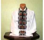 Вышиванка мужская Борщевская с розами ручной работы
