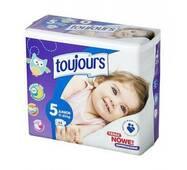 Підгузники Toujours 5 (11-25 кг) 44 шт
