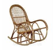 Кресло-качалка с косой из лозы