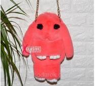 Сумка-рюкзак Зайчик (кролик) коралловый.