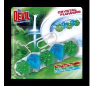 Гигиенический блок для унитаза Dr. Devil WC Crystal Flowers Natur Fresh