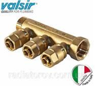 Колектор Valsir на три виведення 1х3х20 (Італія)