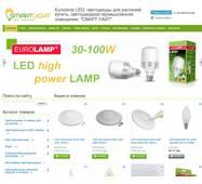 Готовый сайт по продаже светодиодного освещения