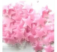Набор розовых светонакопительных звезд.