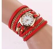 Молодіжний жіночий годинник. Червоні.
