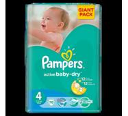 Підгузники Pampers Active Baby-Dry 4 (7-14кг) 76шт