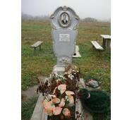 Надгробный памятник из бетона одинарный с цветником образец №5 купить в Виннице