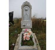 Надгробный памятник из бетона одинарный с цветником образец №1 купить недорого
