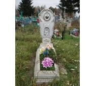 Надгробный памятник из бетона одинарный с цветником образец №4 купить в Украине