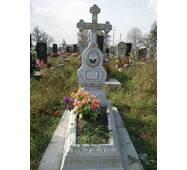 Надгробный памятник цветник из бетона с крестом одинарный образец №3 купить в Черновцах