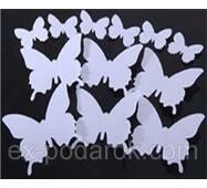Ексклюзивні метелики для декору білі.