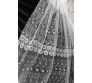 Тюль-гардина вышивка цветы купить в Луцке