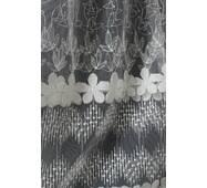 Тюль-гардина белая цветочная купить в розницу