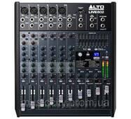 Alto LIVE 802 пульт мікшера, 4 (5) моно   2 стерео каналу