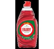 Эффективное средство для мытья посуды Fairy гранат, 433 мл, Великобритания, оригинальный