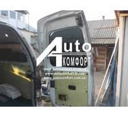 Заднее стекло (распашонка правая) с электрообогревом на Hyundai H-1 I (H-200) (97-07) (Хюндай H-1 I (H-200) (97-07)