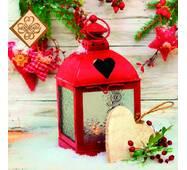 Салфетка ТМ Luxy 33х33, Рождественский фонарь