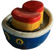Гипсовая игрушка Кораблик