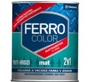 "Краска Chemolak ""Ferro Color"" матовая коричневая 2,5л."