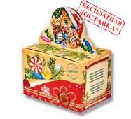 """Солодкий новорічний подарунок """"Зимова посилка"""" 930 гр."""
