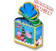 """Солодкий новорічний подарунок """"Свинка Пеппа"""" 400 г."""