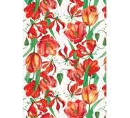 "Подарочная бумага для упаковки ""Тюльпаны"", 5 шт/уп"