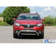Передня дуга WT007 (нерж.) - Renault Sandero 2013+ рр. купити в Полтаві