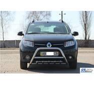 Передня дуга WT003 (нерж.) - Renault Sandero 2013+ рр. купити в Сумах