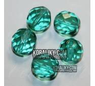 (STKB60220-14) Стеклянные бусины круглые граненые размер  14 мм