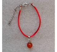 Червона нитка оберіг натуральний камінь Сердолік 8 мм