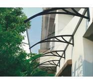 Захисний дашок (козирьок) ТМ TanDen з монолітним полікарбонатом 3мм 3000*930*280 Прозорий