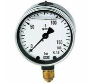 Glycerine - filled pressure gauges, connection radial on bottom - K - GMM U1