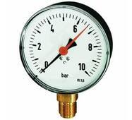 Standard pressure gauges, connection radial on bottom - K - RMM U KUNSTSTOFF MZ