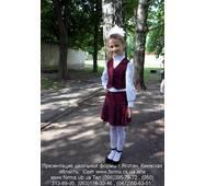 Школьная форма для девочек младших классов, бордовая