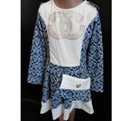 Купить оптом детские платья с сумочкой.
