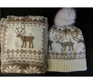 Шапочки і шарфи молодіжні з оленями купити недорого