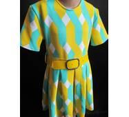 Купить детские трикотажные платья с коротким рукавом