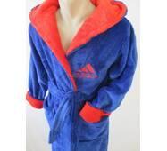 Махровые халаты с капюшоном подростковые.
