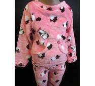 Для девочек махровые пижамы на зиму.