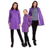 """Пальто для девочки с шарфом  кашемир  м-1073 рост 140 146 152 158 164 тм """"Попелюшка"""""""