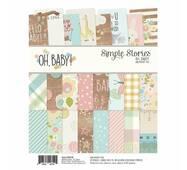 Набор бумаги Simple Stories 15х20см 24листа Oh Baby!