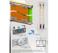 Раздвижная система для шкафов нижнего опирания SKM70AY