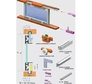 Раздвижная система для шкафных отделений нижнего опирания SCK25