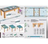 Раздвижная, канатно-рельсовая система для столов НMP