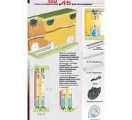 Розсувна система для шаф і міжкімнатних дверей нижнього спирання SKM45