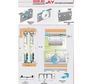 Розсувна система для шаф і міжкімнатних дверей нижнього спирання SKM80AY