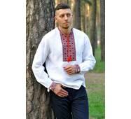Белая рубашка-вышиванка для уверенного в себе мужчины Модель: М04/2-212