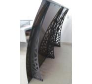 Металевий збірний дашок Dash'Ok Хайтек 2,05 м*1,5 м з монолітним полікарбонатом 4 мм купити в Ужгороді