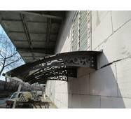 Металевий збірний дашок Dash'Ok Стиль 2,05 м*1,5 м з сотовим полікарбонатом 6 мм купити в Рівному